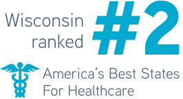 Wisconsin ranked #2 America's best states for healthcare